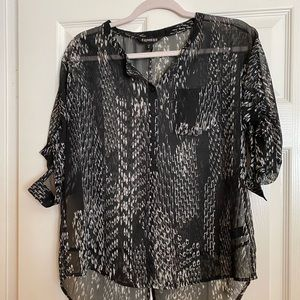 Express 3/4 sleeve blouse